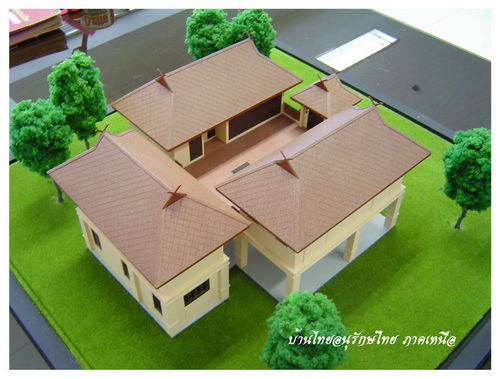 Thai house plans 3 bed 3 bath maids for Thai style house plans