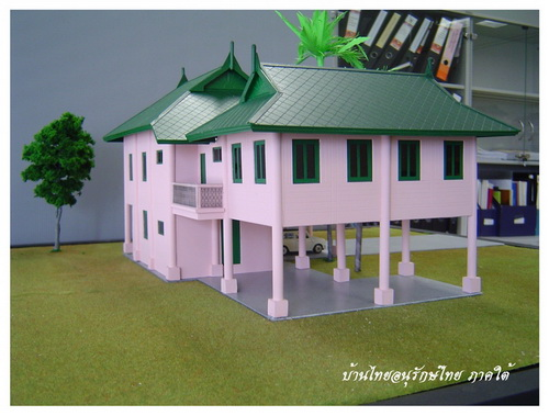 Thai house plans nice 2 story thai style house for Thai style home designs