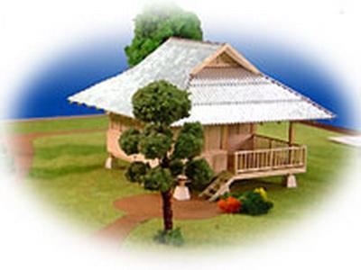 Thai floor plans 50 000baht pond side hut for Free thai house plans