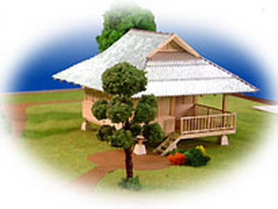 Thai floor plans 50 000baht pond side hut for Small house design thailand