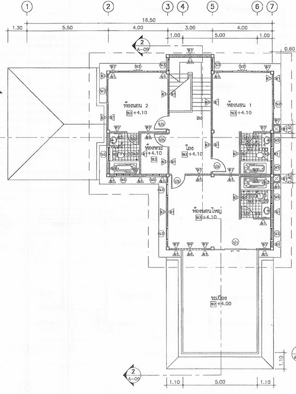 Thai House Plans Large 3 Bedrooms Study