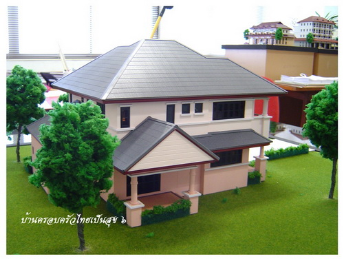 Thai house plans 3 bedroom 3 bathroom for Home designs thailand