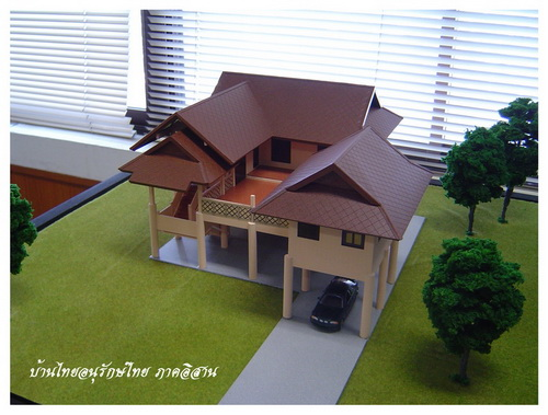 Thai house plans thai style 3 bedrooms for Thai style house plans