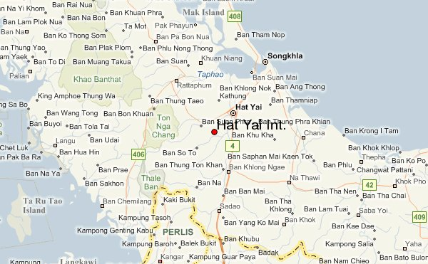 Hat Yai Thailand  City pictures : hat yai thailand map