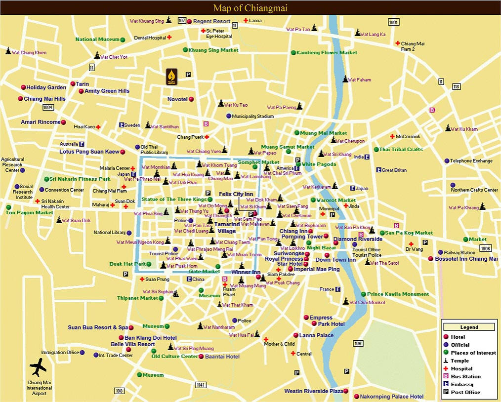chiang-mai-maps - TeakDoor.com - The Thailand Forum on