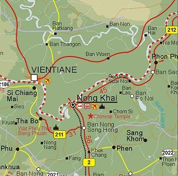 Nong Khai Thailand Map.Nong Khai Maps Teakdoor Com The Thailand Forum