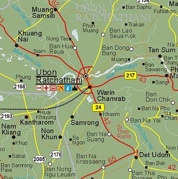 Ubon Ratchathani Maps   TeakDoor.  The Thailand Forum