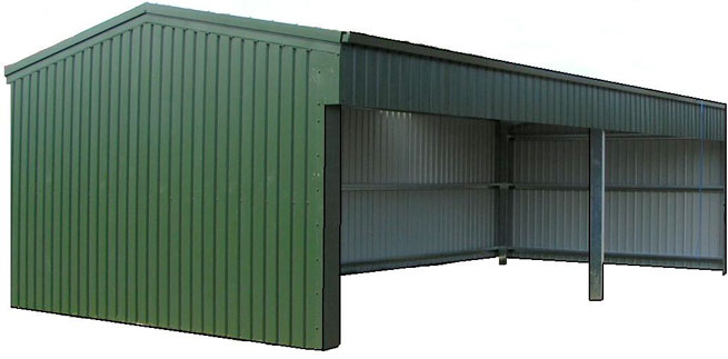 Open Steel Frame Building : Suggestions for a cheap little garage in which we can
