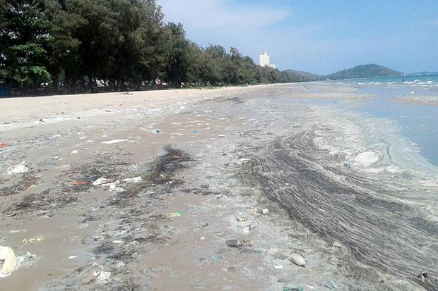 Rayong Beach Marred by Mystery Trash