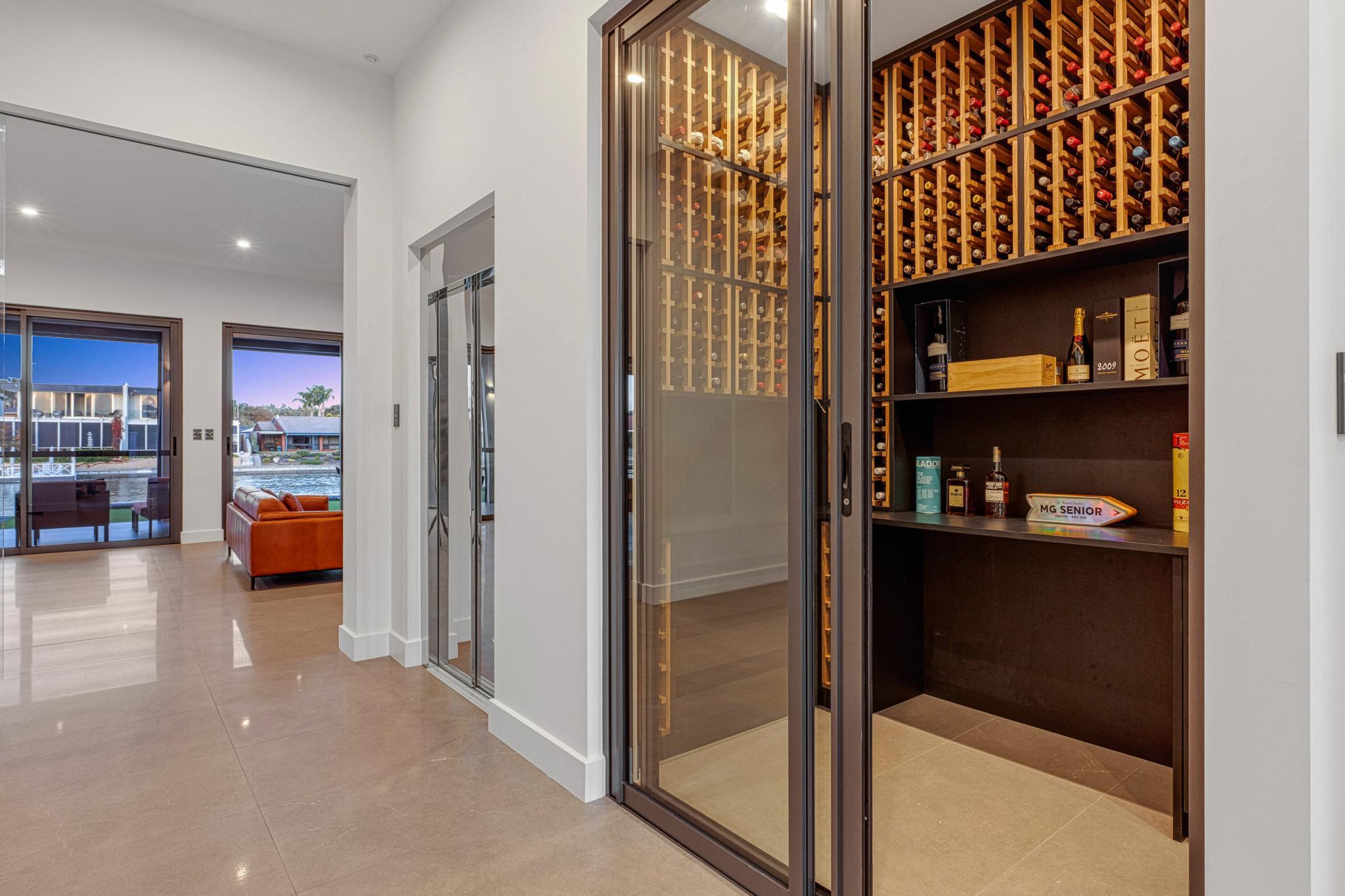 South Australian New House Build-wine-room-jpg