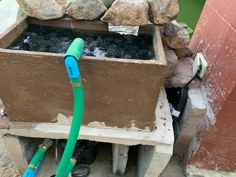 Building a small koi pond waterfall.-bio-2-jpg