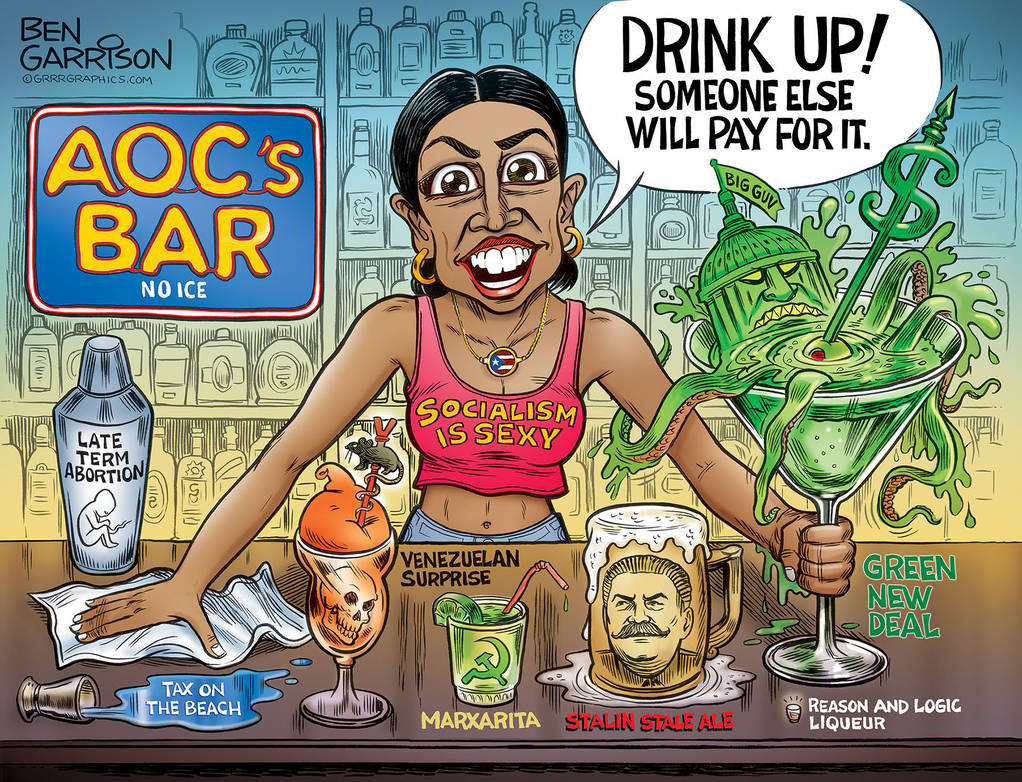 AOC derangement syndrome is real.-aoc_s_bar_drink_up_suckers_by_ben_garrison_by_fujin777_dczoi60-pre-jpg