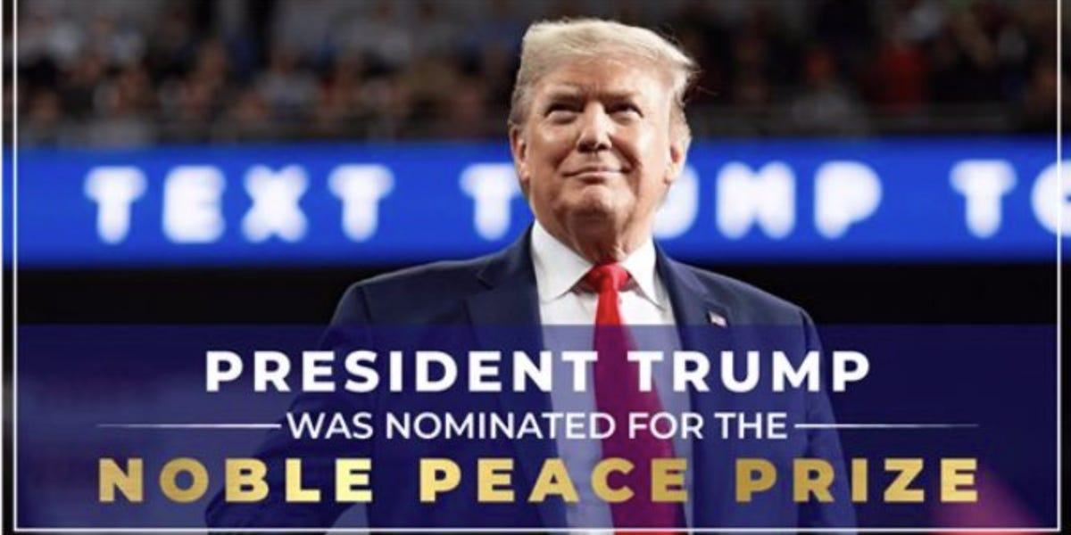 2020 US Presidential Race-trump-campaign-misrepresentsnobel-peace-prize-fundraising