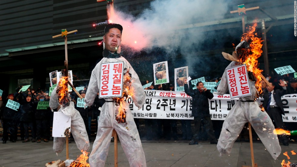 US monitoring intelligence that North Korean leader is in grave danger after surgery-131220063338-kim-jong-un-protest-restricted