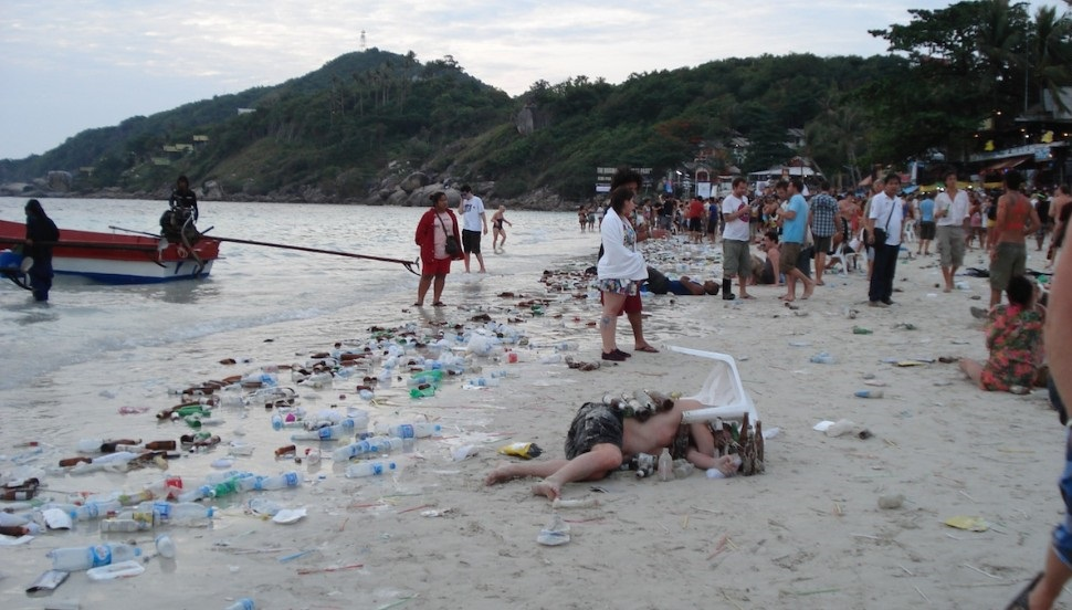 The Death of the Full Moon Party-haad-rin-beach-after-full-moon