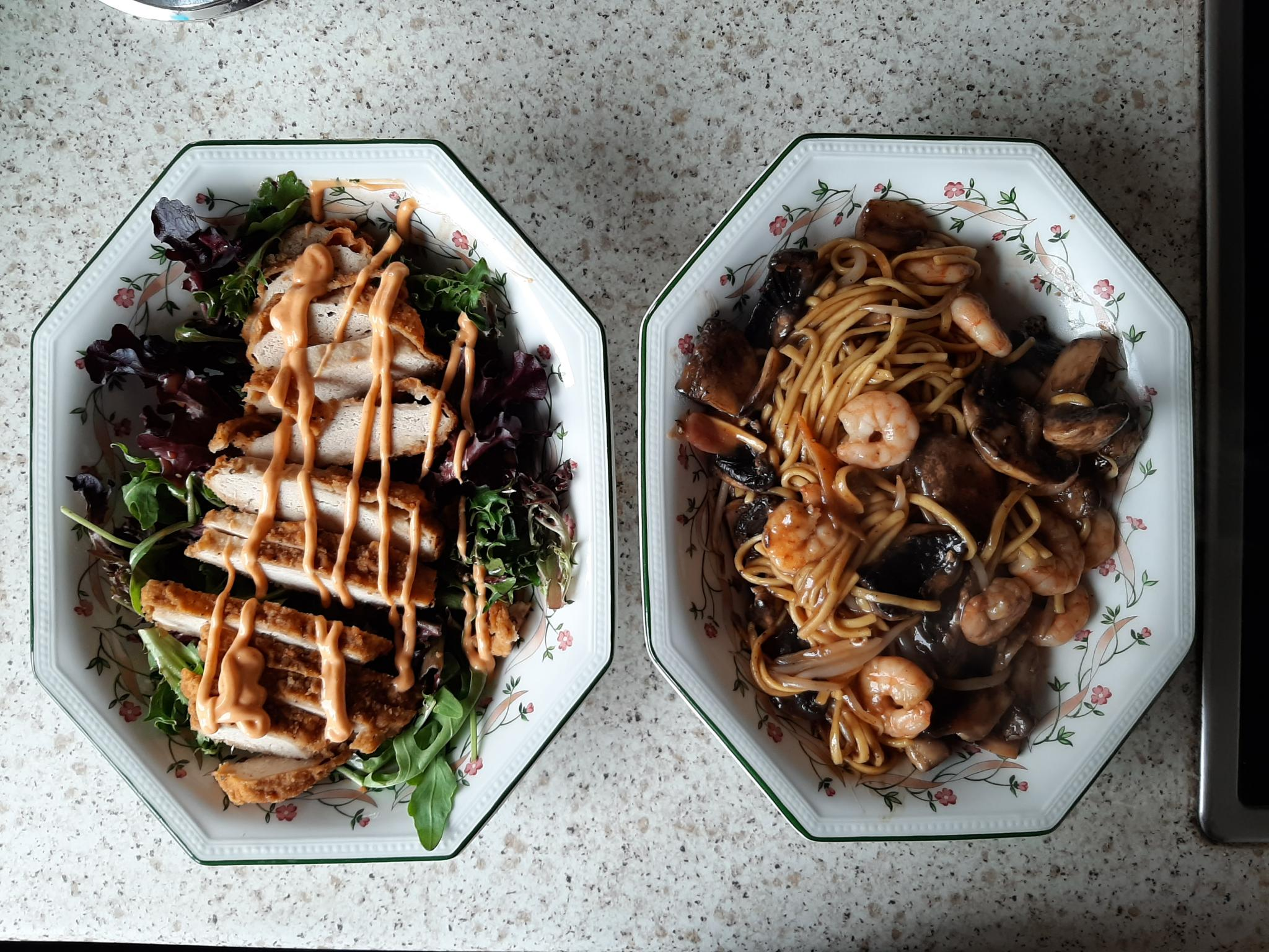 Prawn Hoisin & Plum Egg Noodles With Side Salad-20200610_173754-jpg