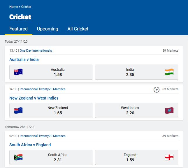 Cricket scores around the world-screenshot_2020-11-27-cricket-betting-odds