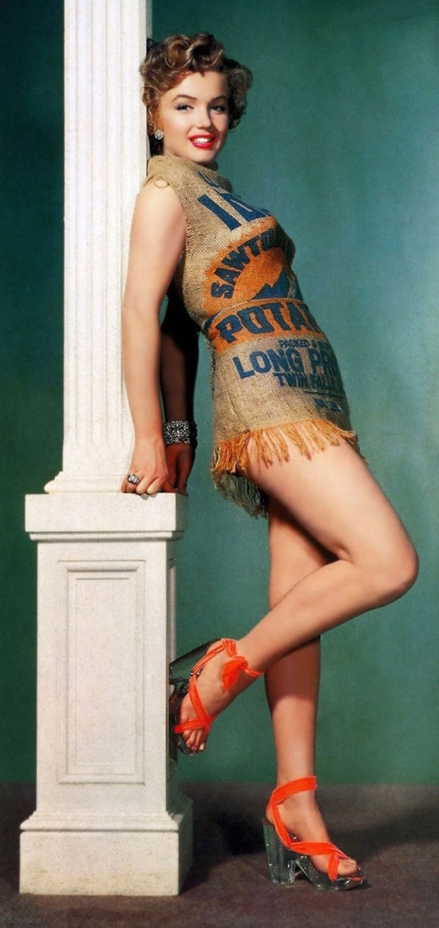 Strange and Unusual Facts-marilyn-potato-sack-dress-c-1-a