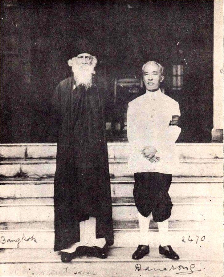 Memory Lane (In my own language)-1927rabindranath-tagore-hrh-prince-damrong-rajanubhab
