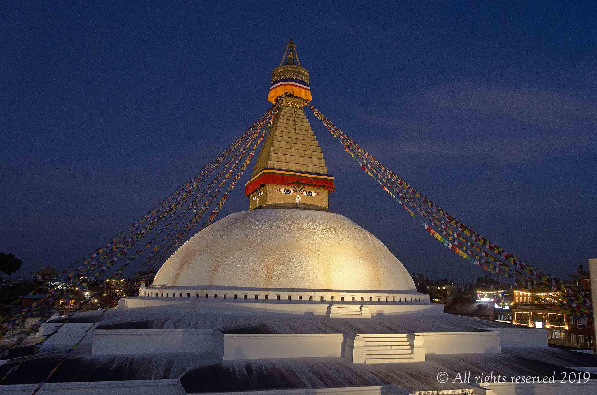 Anyone been up to Nepal  recently?-bodhnath-stupa-sunset-jpg