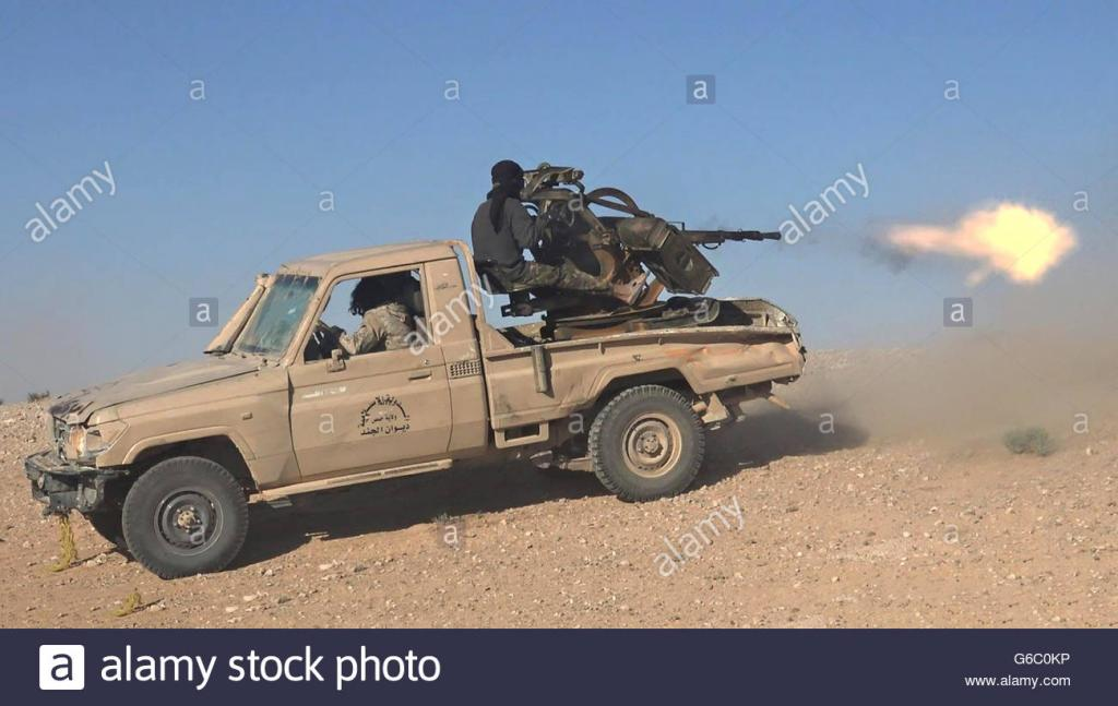 Can Tesla survive this?-islamic-state-fighters-use-pickup-truck