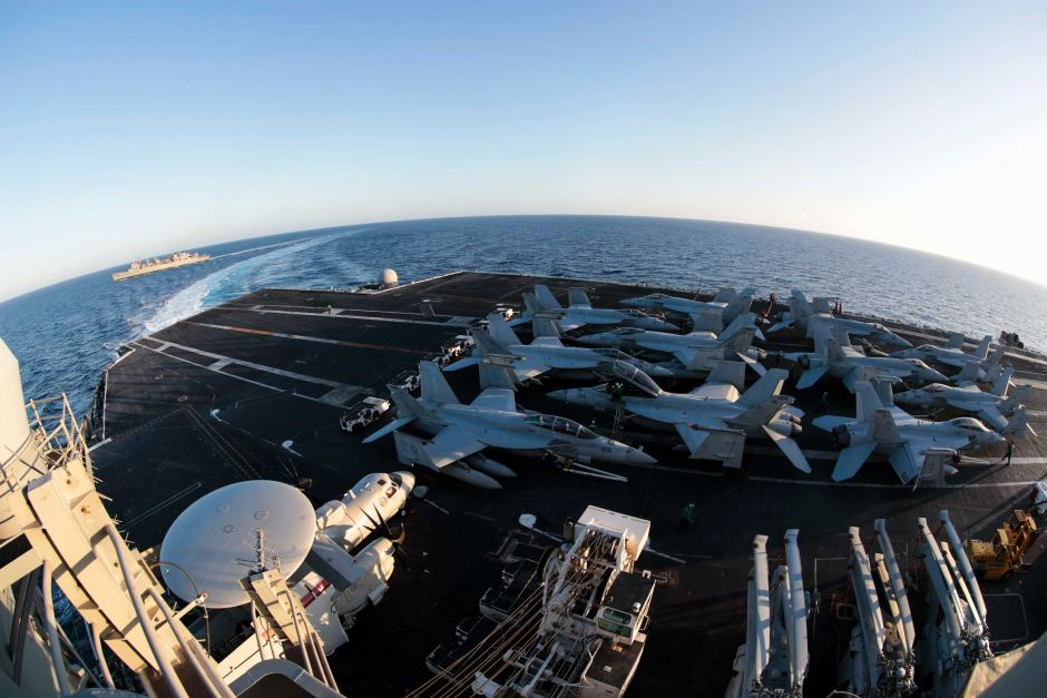 United States sending aircraft carrier and bombers to Middle East to deter Iran-11084280-3x2-940x627-jpg