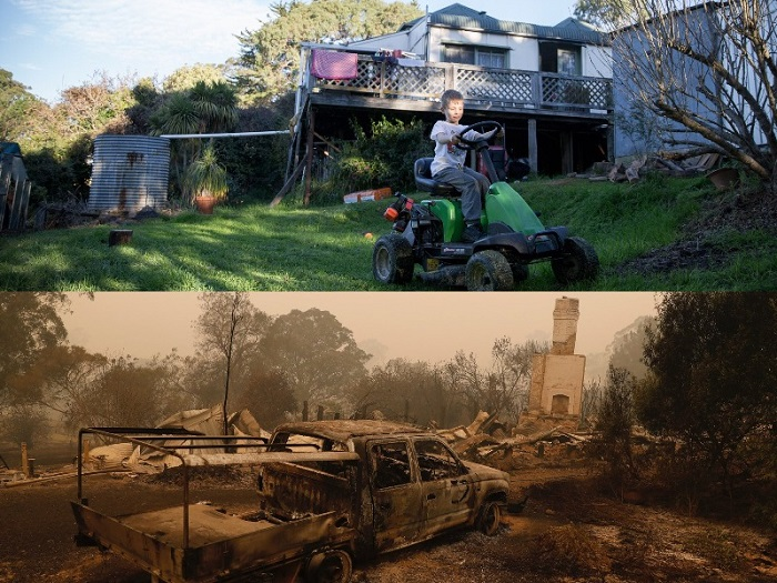 Australia bushfires leave three dead, at least 150 homes lost-matt-roberts-sister-lost-her-house