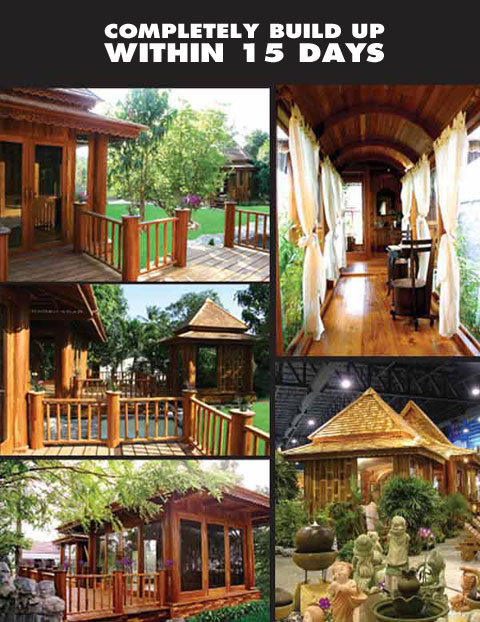 Teak trailer houses for House designs thailand