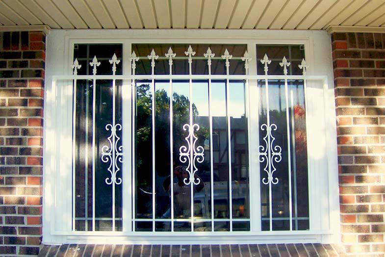decorative window bars...outside or inside?
