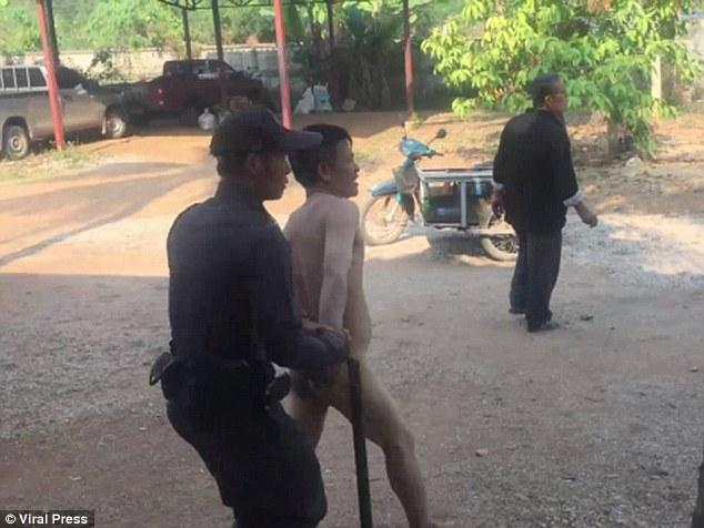 Nasty Criminal Strips Naked In Backseat, Cops Horrified To