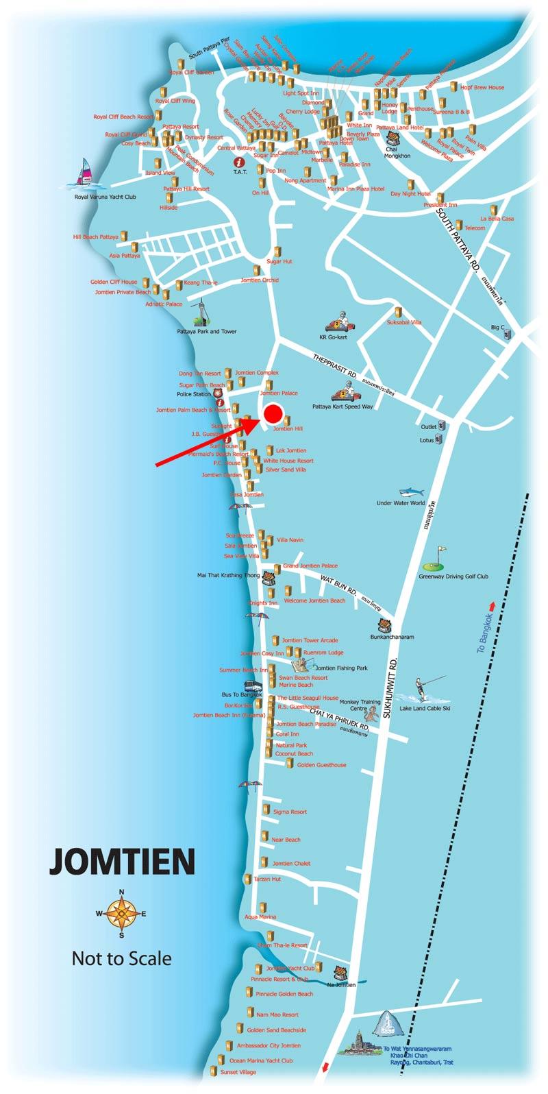 Pattaya Maps - TeakDoor.com - The Thailand Forum